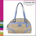 Coach COACH tote bag light khaki x sky CHT satchel ladies