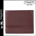 Two point double coach COACH [boutique product] men fold wallet [F74438] wine Camden ぺ bulldog DOS rim Bill Ford [regular outlet]