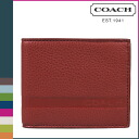 Point double coach COACH men folio wallet [F74438] red Camden ぺ bulldog DOS rim Bill Ford [regular outlet]