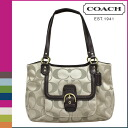 Coach khaki COACH tote bag [F25294] x mahogany Campbell signature carryall women's [regular outlet]