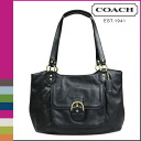 Coach COACH tote bag black Campbell leather bell carry oar Lady's ★★