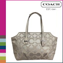 Coach COACH tote bag flint Taylor op art signature carry oar Lady's ★★