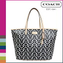 Coach COACH tote bag black X white park metro dream C Lady's ★★