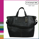 Coach COACH tote bag 2WAY F31334 black Hadley Luc's grain leather duffel Lady's [9/19 reentry load] [regular outlet]