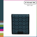 Coach COACH men folio wallet [F74549] navy X storm blue PHC double Bill Ford wallet [regular outlet] fs04gm