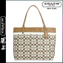 Coach COACH women's Boutique products Tote 29423 khaki x saddle printed signature Tote [10 / 28 new in stock] regular outlet ★ ★