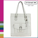 Coach COACH Womens Tote Bag F28723 white Charlie embossed Python leather tote [2 / 2 new in stock] regular outlet ★ ★