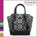 Coach COACH Womens 2WAY Tote F48879 black x white legacy signature mini Tanner [8 / 26 new in stock] regular outlet