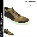Royal Republic ROYAL REPUBLIQ Spartacus high shoes multi boots SPARTACUS HI SHOE MULTI suede men's 116411-135 Cotto [1 / 6 new in stock] [exclude] ★ ★