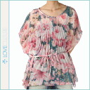 ラブカルチャー LOVE CULTURE tunic pink polyester ladies tops TUNIC CUT, 5