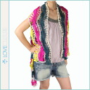 ラブカルチャー LOVE CULTURE レースベスト [3 COLOR LACE VEST, multicolored cotton ladies tops VEST LACE [regular]