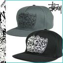 Stussy STUSSY cotton cap 2 color mens ladies Cap BLACK GLAY