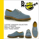 Point 10 x Dr. Martens Dr.Martens 3 Hall shoes [LESTER R13818450, feeded denim fine canvas mens Womens unisex [regular] 10P30May15