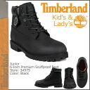Timberland Timberland 6 inch premium スカフプルーフ boots 34975 Junior Premium Scuffproof Boot leather junior kids child ladies BLACK