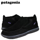 Patagonia patagonia sneakers black pigskin leather men's shoes men's マウイミッド wide slip-on SHOES MENS BLACK PIG SKIN