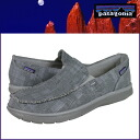 Patagonia patagonia sneakers grey hemp men's shoes men's ネイキッドマウイモック wide slip-on SHOES MENS GRAY HEMP