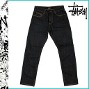 016742 ステューシー STUSSY denim [indigo black] INDIGO BLACK cotton men
