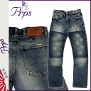 ピーアールピーエス PRPS vintage denim E63P58AX BARRACUDA REGULAR FIT LOW FRONT RISE STRAIGHT LEG LIGHT WASH cotton men's 2013-new