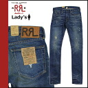[Indigo] double Aurel RRL DOUBLE RL Ralph Lauren denim jeans jeans skinny ladies