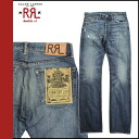 Point double double are L RRL DOUBLE RL Ralph Lauren denim jeans men straight damage processing jeans 2014 arrival indigo [8/5 Shinnyu load] [regular] 02P31Aug14