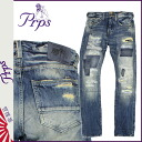 Point 2 x Pierre rupees PRPS denim jeans mens slim fit 2014, new blue DUFF DEMON [10 / 30 new in stock] [regular] ★ ★ 02P01Nov14
