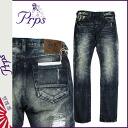 Point 2 x Pierre rupees PRPS denim jeans mens slim fit 2014, new blue DUFF DEMON [10 / 30 new in stock] [regular] P06Dec14