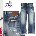 Pierre rupees PRPS denim jeans mens straight fit 2014, new Navy ROY BARRACUDA [11 / 21 new in stock] [regular] ★ ★