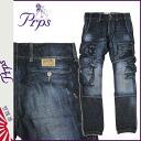 Point 2 x Pierre rupees PRPS denim cargo pants mens jeans in 2014, new dark blue UTILITY DENIM CARGO [11 / 21 new in stock] [regular] ★ ★ P06Dec14