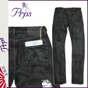 Pierre rupees PRPS denim jeans mens slim fit 2014, new black BURNOUT DEMON [11 / 21 new in stock] [regular] ★ ★