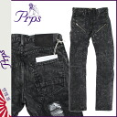 Pierre rupees PRPS denim jeans men's jeans slim fit low rise by 2015, new black DEMON BLACK [2/18 new in stock] [regular] ★ ★