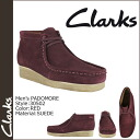 30502 kulaki CLARKS Padmore wallaby boots [red] PADMORE SUEDE men RED WALLABEE [regular]