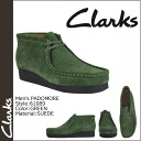 Clarks CLARKS Padmore boot Wallaby 61089 PADMORE SUEDE mens GREEN WALLABEE