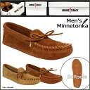 Minnetonka MINNETONKA moccasins mens leather racing ソフトソール 2 color LEATHER LACED SOFT SOLE MENS leather 701 703 [genuine]