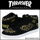Slasher THRASHER BUCHANAN DOG TSBDF-121LP sneakers suede men gap Dis suede cloth cotton velvet レオパード 豹柄