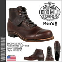 Wolverine WOLVERINE 1000 mile Rockford CAP to boots [Brown] W05293 ROCKFORD 1000 MILE CAP-TOE BOOT leather men's Wolverine [genuine]