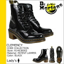 Dr. Martens Dr.Martens 8 hole boots R14638002 CLEMENCY 8EYE BOOT patent leather Womens mens