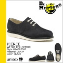 Denim men's PIERCE, R14597003 shoes Dr. Martens Dr.Martens 3 Hall [Black] [regular]