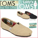 Point 2 x TOMS SHOES Toms shoes women's slip-on BURLAP WOMEN's CLASSICS burlap classic cotton linen Toms Toms shoes new 001004B 2 color [7 / 18 Add restock] [regular]