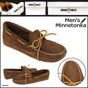 ソフトソール DOUBLE BOTTOM SOFT SOLE leather men's Minnetonka MINNETONKA double bottom
