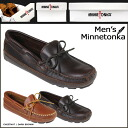 Minnetonka MINNETONKA double bottom cowhide ドライビングモカシン DOUBLE BOTTOM COWHIDE DRIVING MOC leather mens