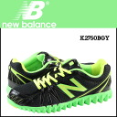New balance new balance K2750BGY kids women's sneakers M wise mesh / synthetic leather