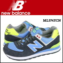 New balance new balance ML574YCN sneakers [Navy] D wise suede x mesh mens suede [regular]