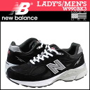 New Balance new balance W990BK3 Made in USA Lady's men sneakers B Wise suede X mesh suede cloth