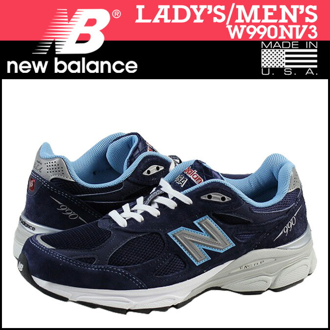 2014 New Balance W990NV Navy Blue Womens Sneakers