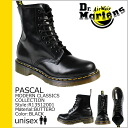 Leather men's women's Dr. Martens Dr.Martens 8 hole boots black R13512001 PASCAL [12 / 10 Add restock] [regular]