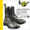 Dr. Martens Dr.Martens 1490 WOMENS 10 hole boot R14610225 PRINT Leather Womens mens