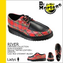 Shock price ★ point 10 times ★ doctor Martin Dr.Martens Clippers shoes [red strike Wirt X black] R15263601 RIVER leather Lady's [regular]