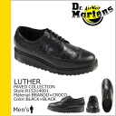 Hall ballet shoes Dr. Martens Dr.Martens 5 [Black / Black] R15314001 LUTHER leather men's [regular]