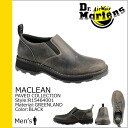 Shock price ★ point 10 times ★ doctor Martin Dr.Martens slip-ons [black] R15464001 MACLEAN leather men [regular]