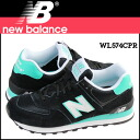 New balance new balance WL574CPR Womens mens sneakers B wise suede / mesh suede black [regular]